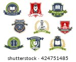 education symbols for... | Shutterstock .eps vector #424751485