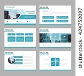 blue multipurpose presentation...   Shutterstock .eps vector #424752097