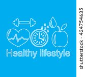 fitness and healthy lifestyle... | Shutterstock .eps vector #424754635