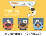 business training staff ... | Shutterstock .eps vector #424756117