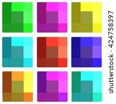 transparent squares | Shutterstock . vector #424758397