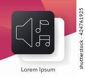 volume line icon | Shutterstock .eps vector #424761925