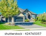 custom built luxury house ...   Shutterstock . vector #424765357