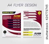 brochure flier design template. ... | Shutterstock .eps vector #424773745