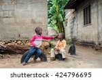 editorial use. children in... | Shutterstock . vector #424796695