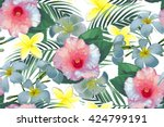 beautiful seamless vector... | Shutterstock .eps vector #424799191