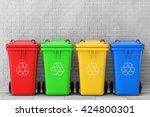 Multicoloured Garbage Trash...