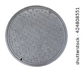 Rusty  Grunge Manhole Cover ...