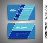 modern simple business card set ... | Shutterstock .eps vector #424810051