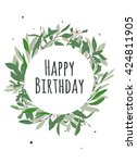 birthday card. circle with... | Shutterstock .eps vector #424811905