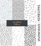 hand drawn textures. design... | Shutterstock .eps vector #424811941