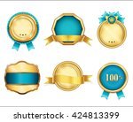 royal  realistic  vector badges ... | Shutterstock .eps vector #424813399