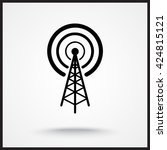 wireless sign icon  vector... | Shutterstock .eps vector #424815121