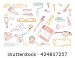 house repair tools vector set.... | Shutterstock .eps vector #424817257