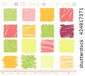 vector collection of scribbled... | Shutterstock .eps vector #424817371