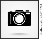 photo camera sign icon  vector... | Shutterstock .eps vector #424818244