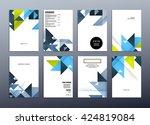 geometric vector background....   Shutterstock .eps vector #424819084