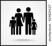 family sign icon  vector... | Shutterstock .eps vector #424824127