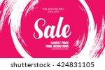 sale banner  poster. sale... | Shutterstock .eps vector #424831105