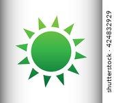 sun sign. green gradient icon
