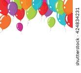 flying balloons background... | Shutterstock .eps vector #424834231