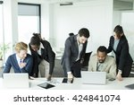 young multiracial business... | Shutterstock . vector #424841074