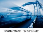 motion blurred traffic on