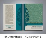 asian style brochure and flyer... | Shutterstock .eps vector #424844041