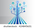 internet of things  iot ... | Shutterstock .eps vector #424845631