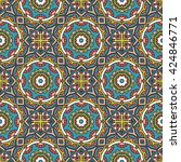 seamless pattern with mandala. | Shutterstock .eps vector #424846771