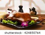 beijing roast duck | Shutterstock . vector #424850764