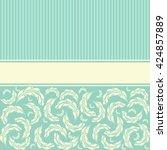 wedding card or invitation... | Shutterstock . vector #424857889