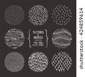 hand drawn textures and brushes.... | Shutterstock .eps vector #424859614