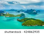 tropical group of islands in... | Shutterstock . vector #424862935