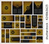 vintage swirl identity design.... | Shutterstock .eps vector #424863625