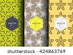 vector set of design patterns... | Shutterstock .eps vector #424863769