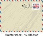 envelope with airmail stripes ... | Shutterstock .eps vector #42486502