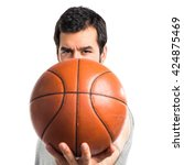 man playing basketball | Shutterstock . vector #424875469