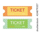 tickets icon. flat design.... | Shutterstock .eps vector #424879357