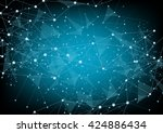 abstract technology futuristic... | Shutterstock .eps vector #424886434