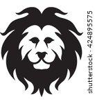 lion head   vector illustration.... | Shutterstock .eps vector #424895575