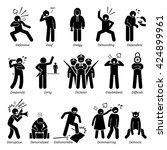 negative personalities... | Shutterstock . vector #424899961