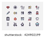 medical icon set vector. | Shutterstock .eps vector #424902199