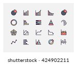 graph icon set vector. | Shutterstock .eps vector #424902211