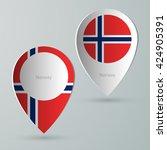 paper of map marker for maps... | Shutterstock .eps vector #424905391