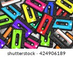 old audio cassette.... | Shutterstock . vector #424906189