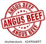 angus beef. stamp | Shutterstock .eps vector #424906897