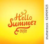 phrase hello summer  typography ... | Shutterstock .eps vector #424909525