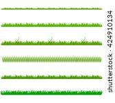 grass  shrubs.  | Shutterstock .eps vector #424910134
