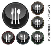 silverware fork knife   spoon... | Shutterstock .eps vector #424910401